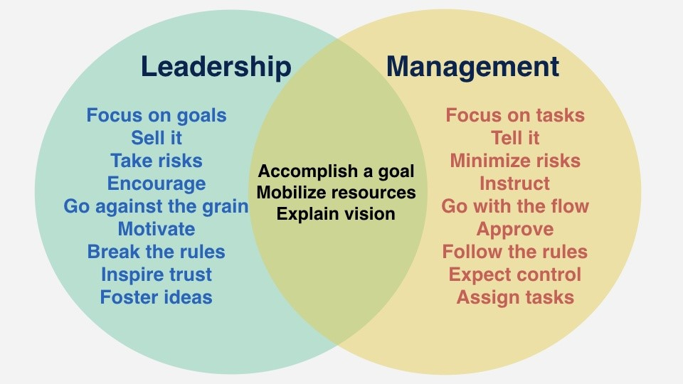 Leadership and Management, How Leadership and Management Differ, CX Master