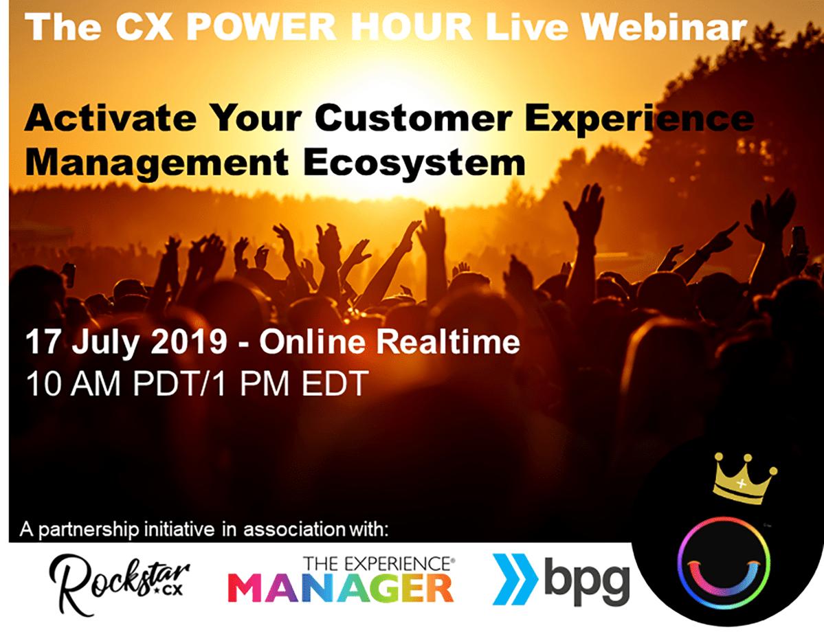 CX POWER Hour webinar