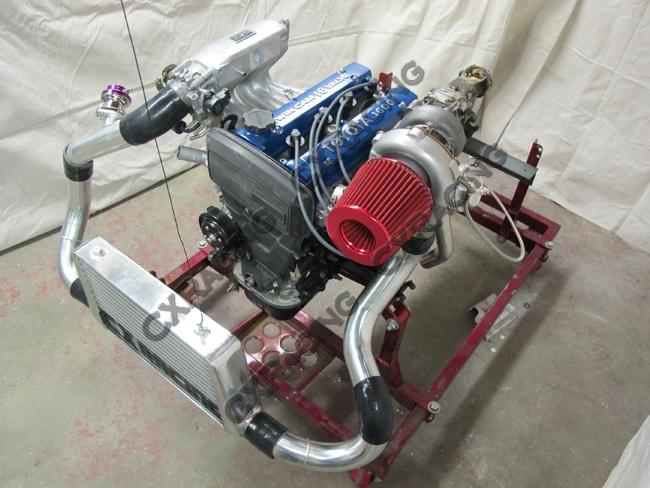 T3 Turbo Intercooler Kit Top Mount Downpipe For Corolla