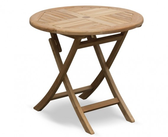 suffolk folding outdoor table round 0 8m