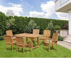 rectangular garden table and chairs