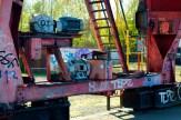 Maschinen am Kran am Hafen