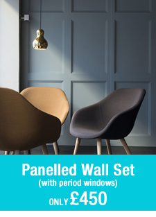 pre-built roomset Panelled Wall