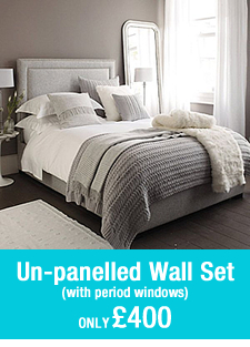 pre-built room set panelled wall