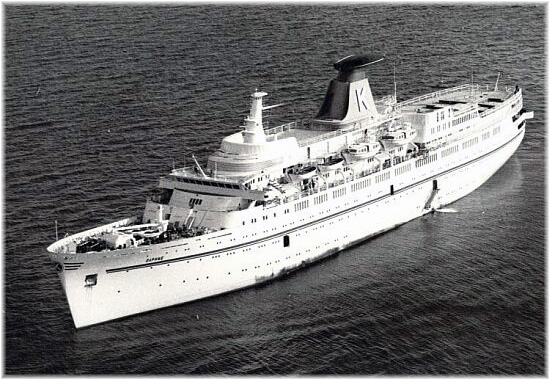 In May 1977 Carras Cruises' 15,833-ton 400-berth Daphne, made an inaugural cruise to Havana from New Orleans