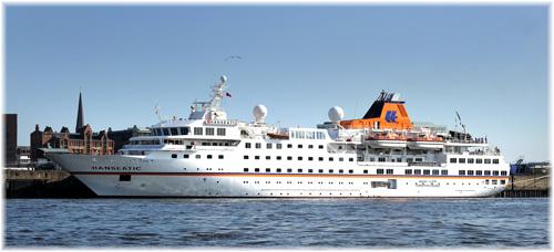 Hapag-Lloyd Cruises' Hanseatic in Hamburg