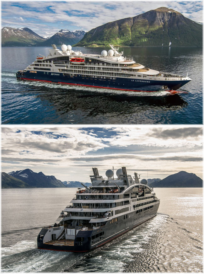 Among others, Culture Cruises will work with Ponant, who are expanding from five ships to a dozen, all newbuildings. This is Le Lapérouse of 2018 (Photo credit Philip Plisson, Ponant)