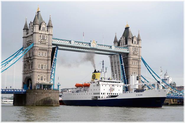 RMS St Helena in London (Photo Peter van den Berg)