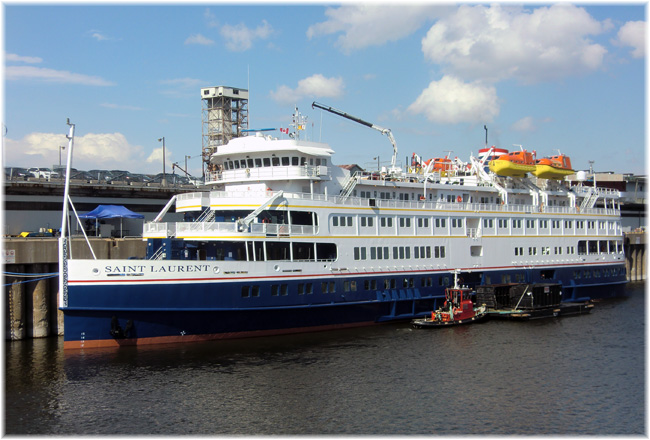 The 210-berth Saint Laurent. In this pic she is moored in Montreal