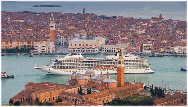 The Viking Sea in Venice (Courtesy Viking Ocean Cruises)