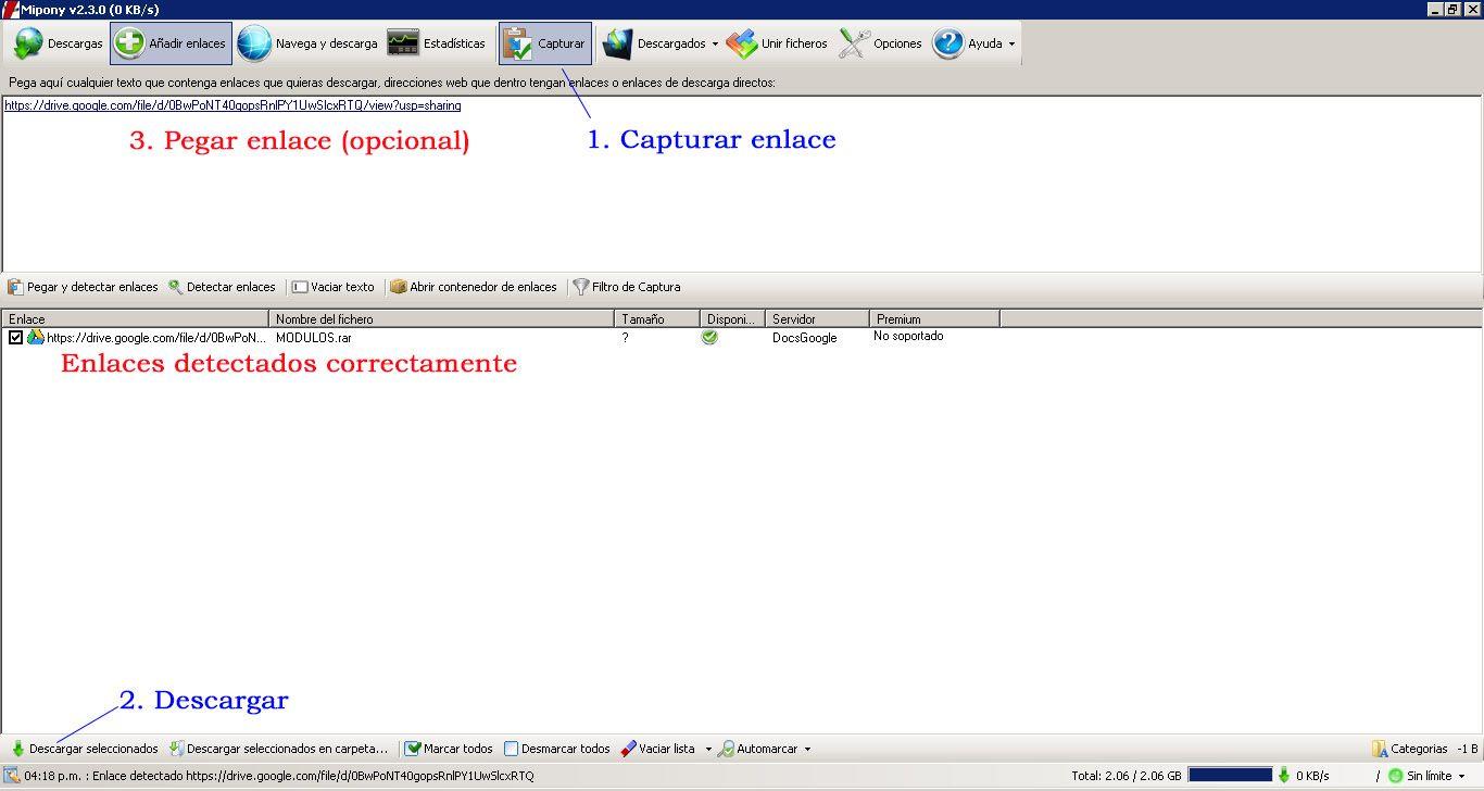 Descargar desde Google Drive con Mipony | CyberDocentes