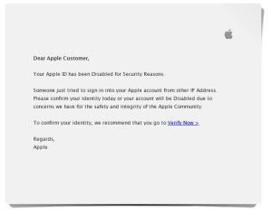 "How to avoid being ""phished"" - Email from Apple"