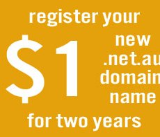 Get your new .net.au domain name for $1