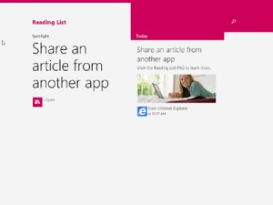 Windows 8.1 - Reading list app