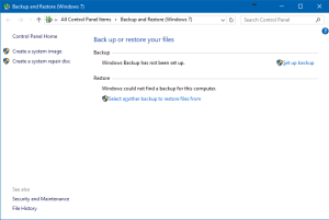 Windows Backup and Restore
