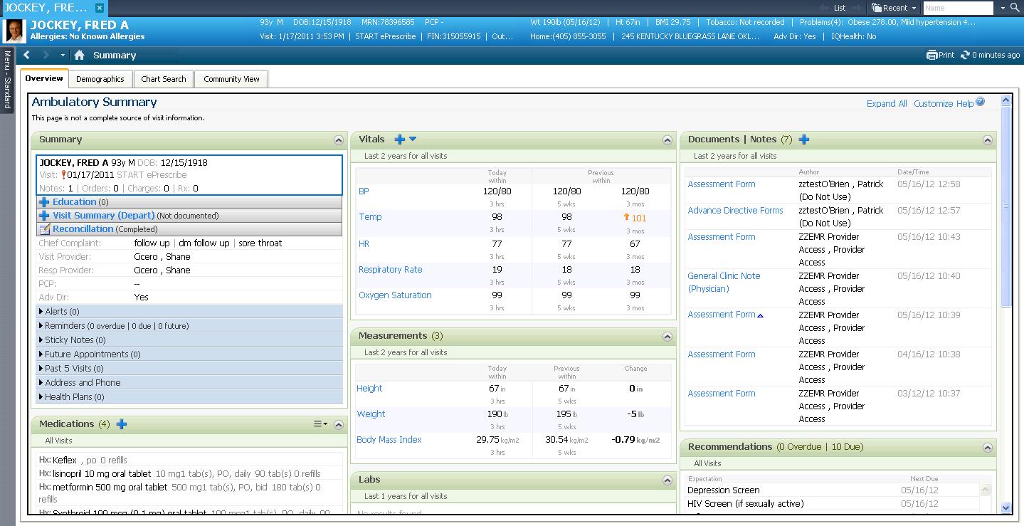 Cerner Charting Practice Online