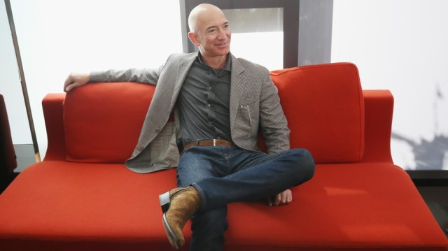 Jeff Bezos relaxes at the Wired 25 summit.