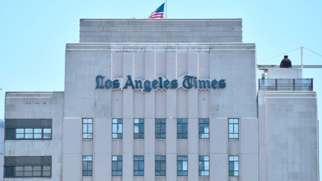 Suspected malware attacks have hit the Los Angeles Times and other newspapers.