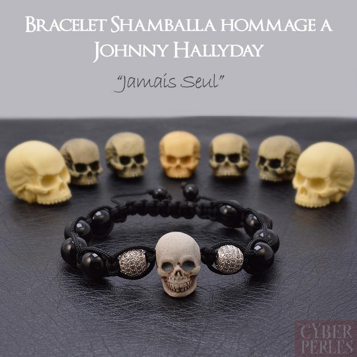 Exemple Bracelet Hommage Johnny Hallyday Jamais Seul