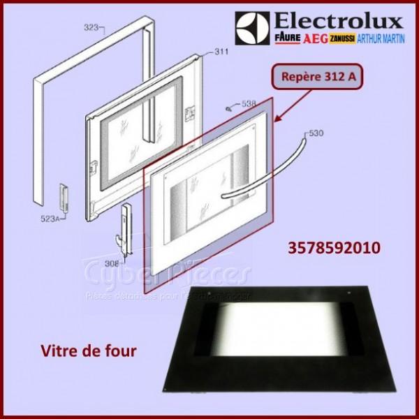 vitre de four electrolux 3578592010 pieces four