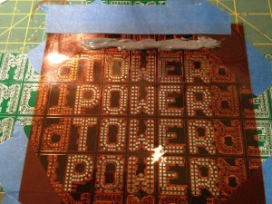 Full Power Tower Panel with Stencil