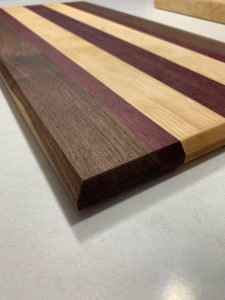 Walnut, Maple, Purpleheart Cutting Board