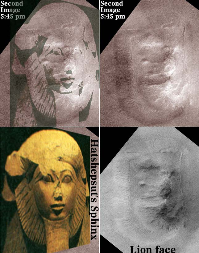 The Cydonia Face And Hatshepsuts Sphinx