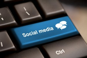 A made-up social media button