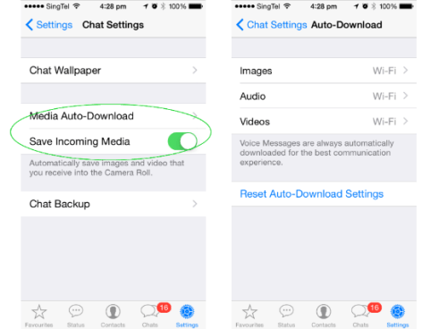 Whatsapp Data Saving