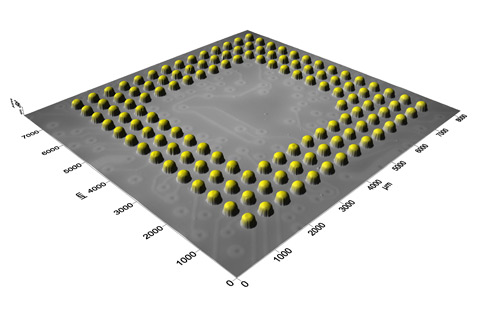 3D surface of the BGA component