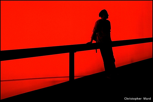 Silhouette On Red