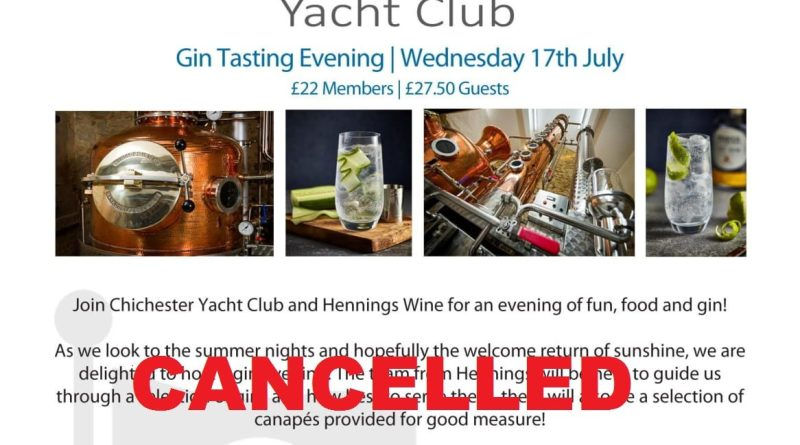 Gin Tasting – CANCELLED
