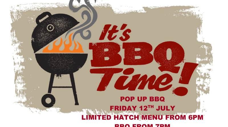 Pop Up BBQ Friday 12th July
