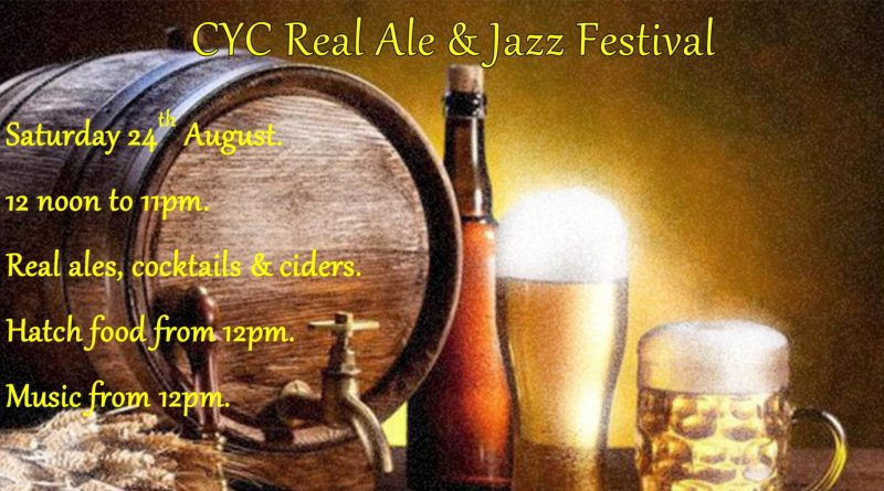 Real Ale & Jazz Festival – Saturday 24th August from 12pm