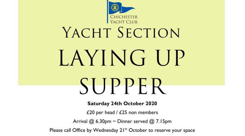 Yacht Section Laying Up Supper 24th October 2020