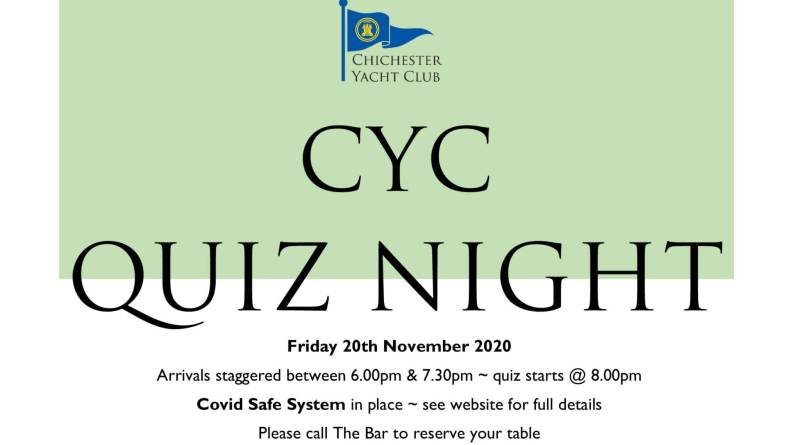 Quiz Night Round 1 on Friday 20th November