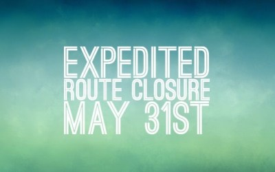 Expedited Route Closes May 31!