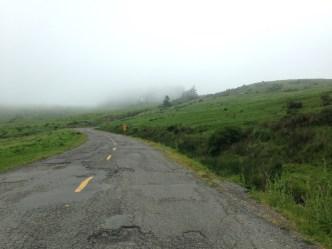 Beginning the Endless Hills ascent.