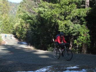 Nearing the top of Woodrat.