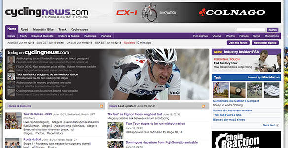 Cyclingnews.com Homepage