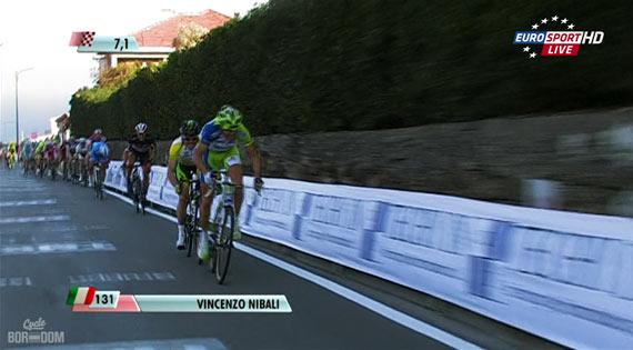 Cycleboredom | Screencap Recap: Milan-San Remo - Nibali Attack
