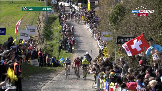 Cycleboredom | Screencap Recap: Ronde van Vlaanderen - The Paterberg Maarch