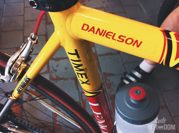 Spotted: Tom Danielson's Team Saturn Ti LeMond - Tom's Sticker