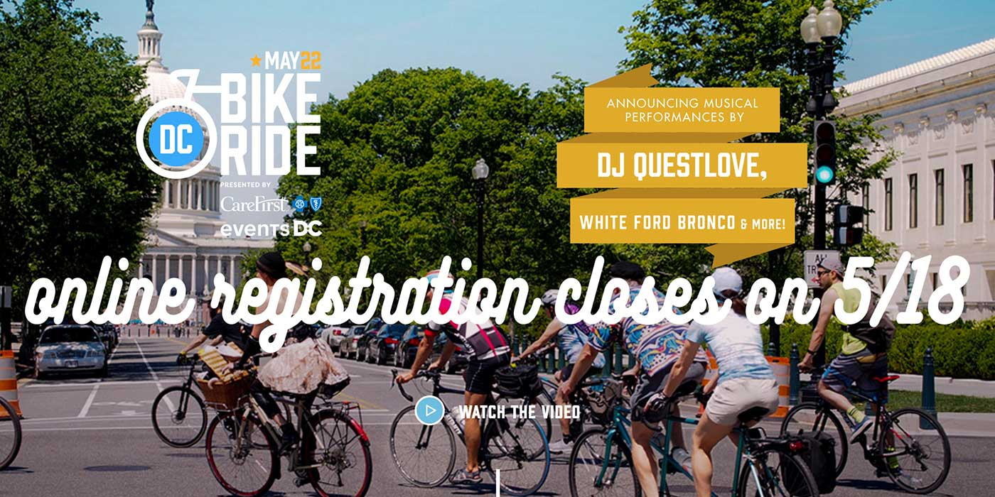 DC Bike Ride Is This Weekend!!