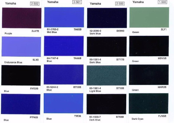 Yamaha Outboard Paint Colors