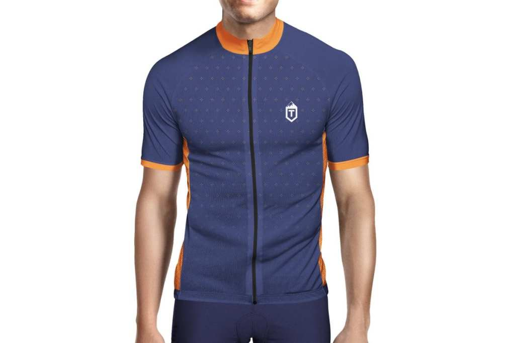 Tcycling Orange / Navy Plus Jersey