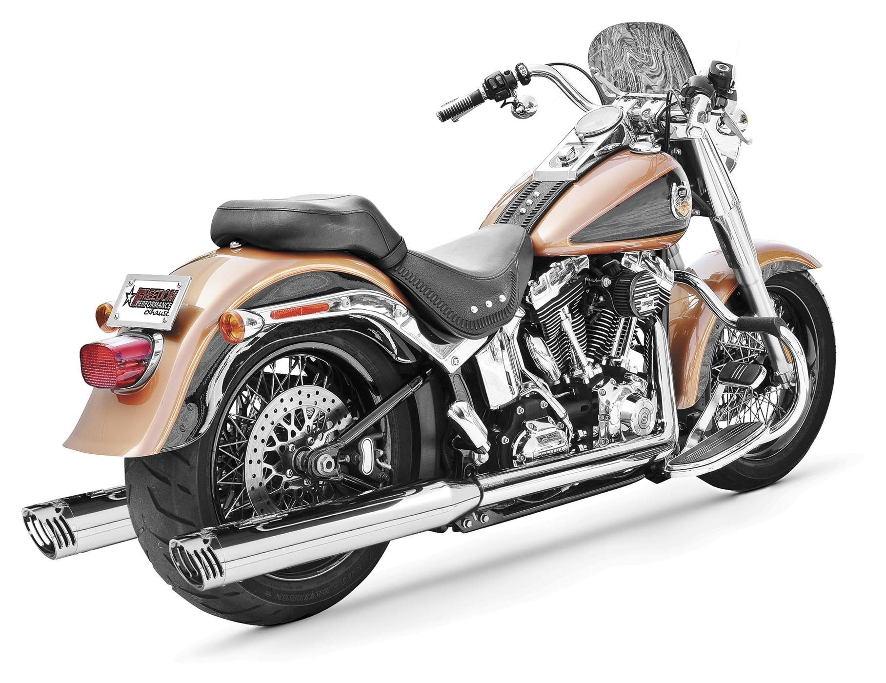 freedom performance racing true dual exhaust for harley softail 2007 2014