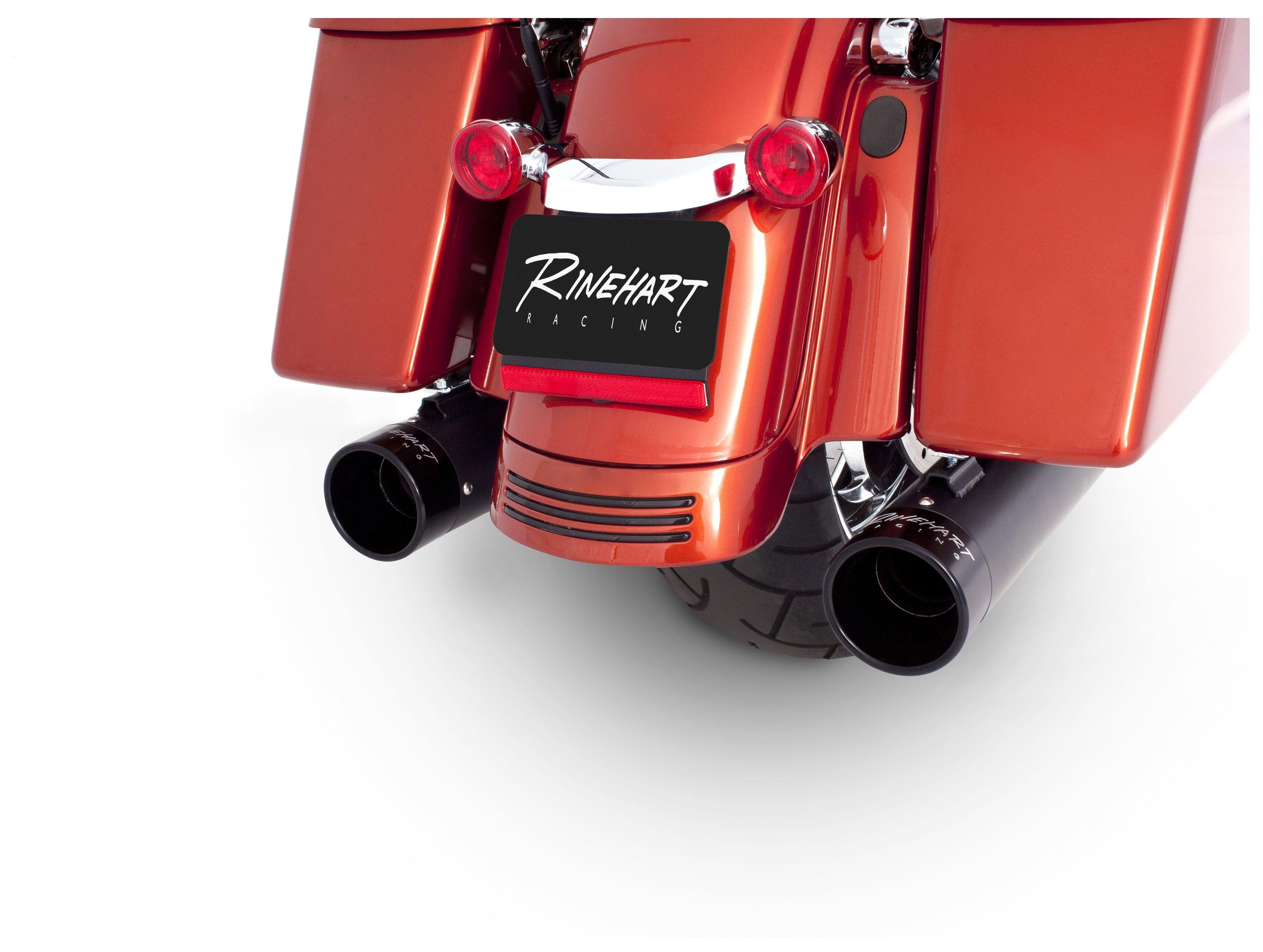rinehart 4 slip on mufflers for harley touring 2017 2021