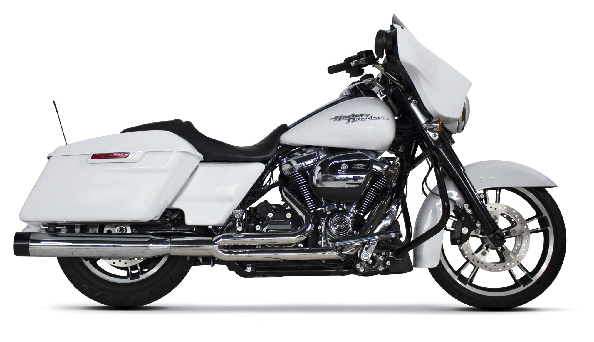 two brothers comp s 2 into 1 exhaust for harley touring 2017 2021