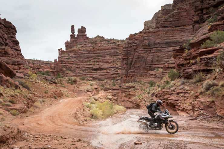 Nowhere on earth has a landscape quite like this in Moab, and the F 850 GS is one of the best bikes on which to see it.